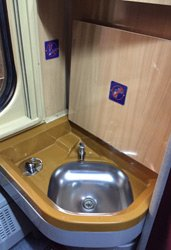 Each compartment has a washbasin