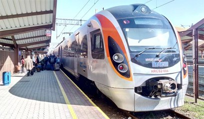 The Przemysl to Lviv & Kiev train