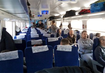 2nd class seats on Przemysl-Kiev train