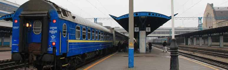 The Vienna-Kiev sleeping-car at Kiev Pass