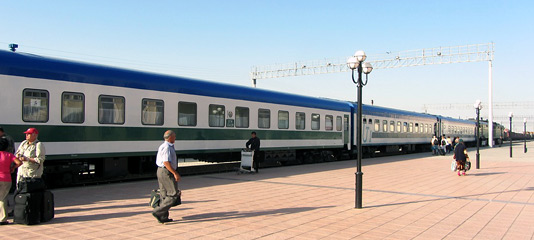 Uzbek sleeper train