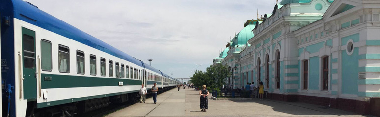 The train from Moscow to Tashkent