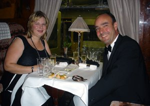 Dinner on the Venice Simplon Orient Express (Pullman car 'Audrey') in October 2008, then a night at the Ritz...