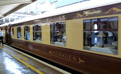 Perseus on the Britrish Pullman train at London Victoria