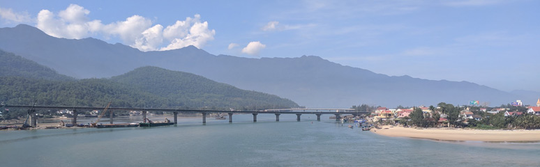 Scenery from the train between Hue and Danang