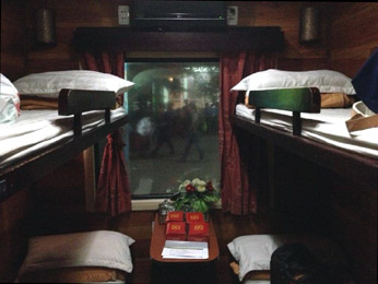 Golden Trains 4-berth sleeper between Saigon (HCMC) and Nha Trang