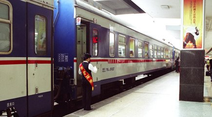 Beijing to Hanoi by train.  This is the Chinese sleeper train between Beijing and Dong Dang.