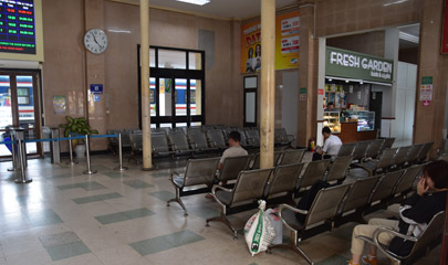 Inside Hanoi railway station