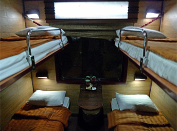 4-berth sleeper in the private 'Livitrans' sleeping-car from Hanoi to Hue & Danang