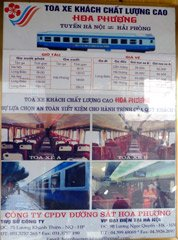 Poster advertising trains from Hanoi to Haiphong