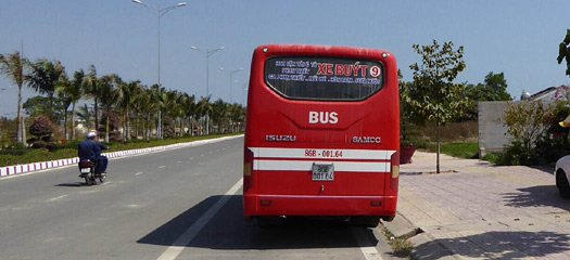 Bus number 9 from Phan Thiet to Mui Ne