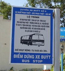 Bus stop at Phan Thiet station