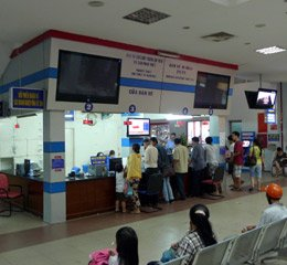Saigon station ticket office
