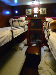 Orient Express sleeper on train to Lao Cai
