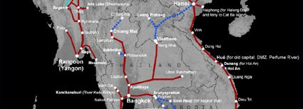 Click for train route map for Vietnam & SE Asia
