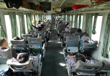 Air-conditioned soft seats on train SE3