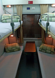 Soft sleeper, as used on SP trains to Lao Cai for Sapa
