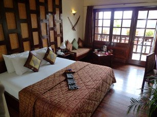 A deluxe room at the Victoria Hotel, Sapa