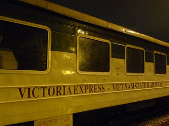 The Victoria Express train from Hanoi to Lao Cai