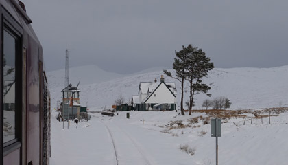 Approaching Corrour station