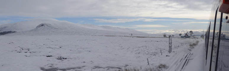 A wide shot leaving Corrour