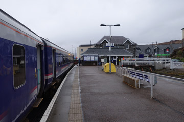 Train arrived at Mallaig