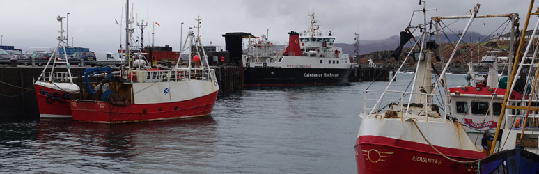 Mallaig Harbour and ferry to Skye