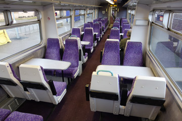 Inside a ScotRail spinter train