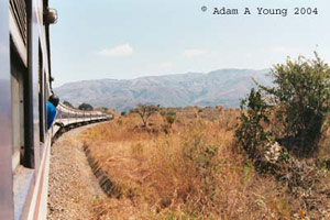 TAZARA train from Dar es Salaam (Tanzania) to Kapiri Mposhi (Zambia) Copyright Adam Young