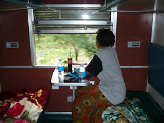 4-berth 1st class sleeper on the train from Dar es Salaam to Zambia