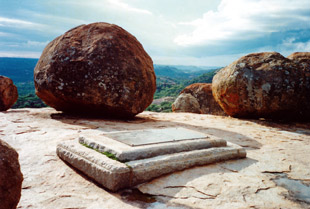 "Matobo, Zimbabwe:  ""Here lie the remains of Cecil John Rhodes"""