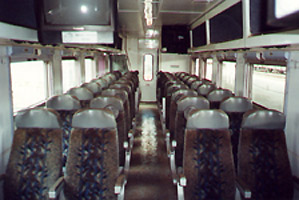 Standard class on the Bulawayo-Harare overnight train