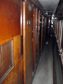 First class sleeper corridor, Bulawayo to Vic Falls train