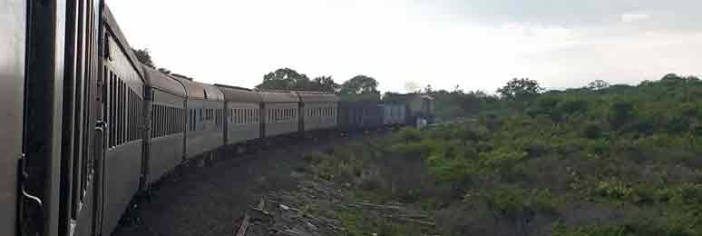 Bulawayo to Vic Falls by train