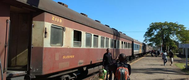 The Bulawayo to Vic Falls train at Victoria falls