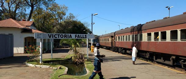 The Bulawayo to Vic Falls train, seen at Victoria falls