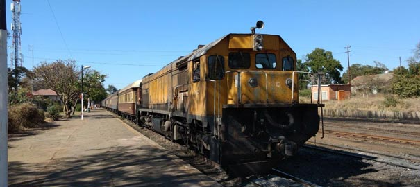 Locomotive of the Bulawayo to Vic Falls train