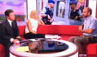 Man in Seat61 on BBC Breakfast TV