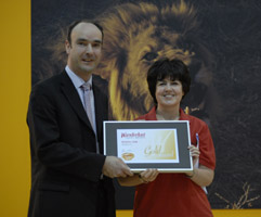 Receiving the Wanderlust 'Top Travel Website' award in January 2008