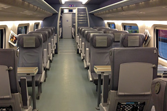 1st class seats on Allegro train Helsinki-St Petersburg
