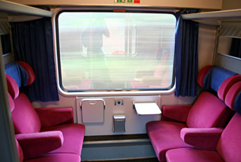 1st class compartment on unrefurbished German InterCity train