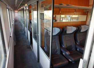 1st class comparment on a Berlin to Amsterdam train