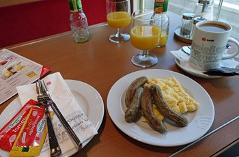 Breakfast on the Amsterdam to Berlin InterCity train