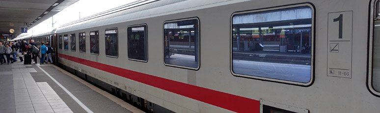 Amsterdam to Berlin InterCity train