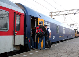 The City Night Line sleeper train from Amsterdam to Prague, at Amsterdam