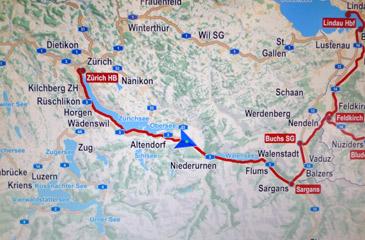 Zurich Train Map on