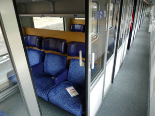 Austrian 2nd class compartment