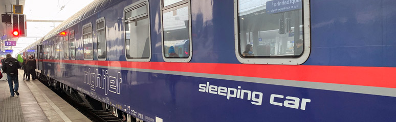 The Nightjet sleeper at Vienna