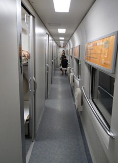 Soft sleeper corridor