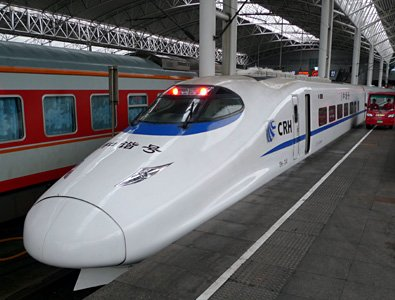 Sleeper train D313 arrived at Shanghai main station